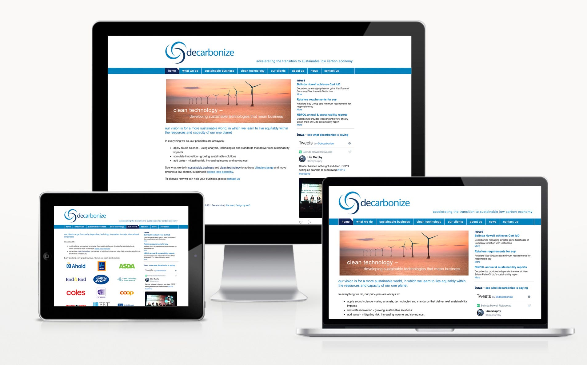 Decarbonize-website-design